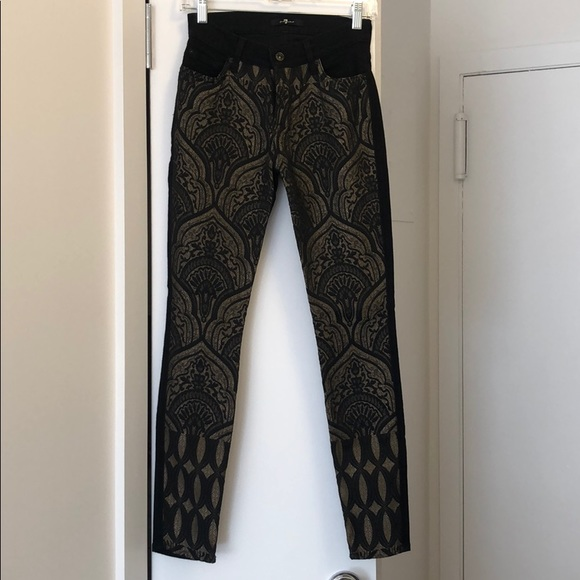 c42a3042ede3d 7 For All Mankind Jeans | Black Embroidered | Poshmark